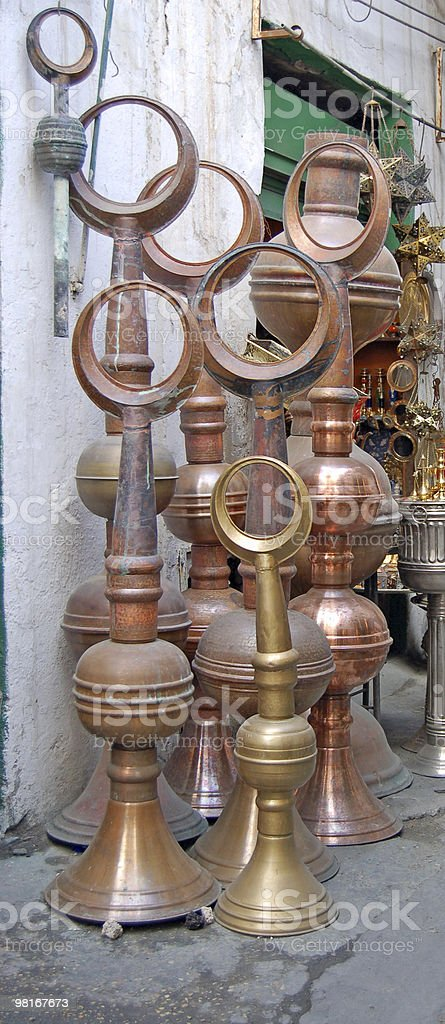 Metalwork souk, Tripoli, Libya royalty-free stock photo
