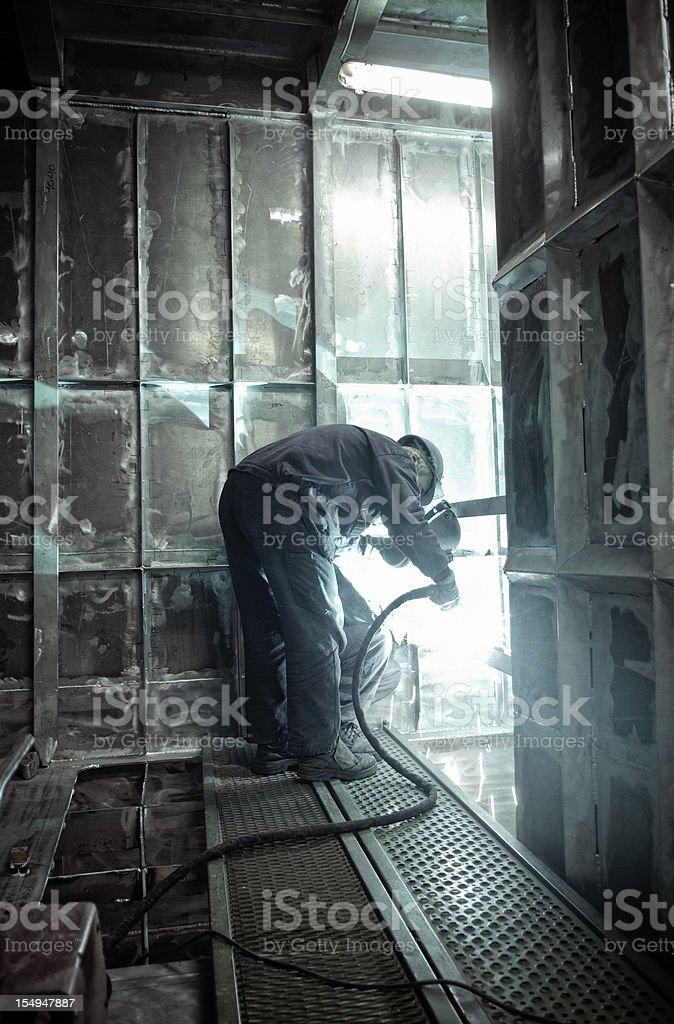 Metalworker stock photo
