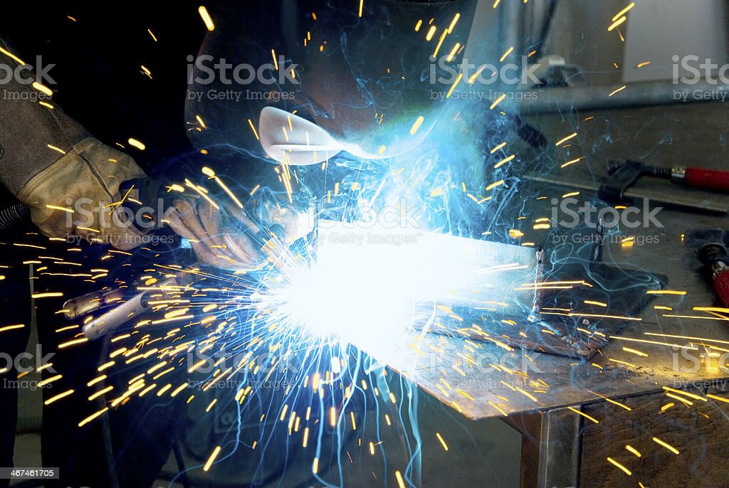 metalworker welder stock photo