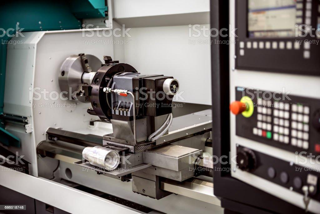 Metalworking CNC milling machine. royalty free stockfoto