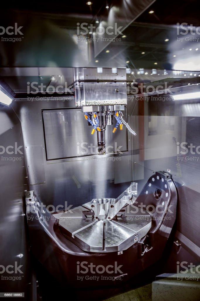 Metalworking CNC milling machine. foto stock royalty-free