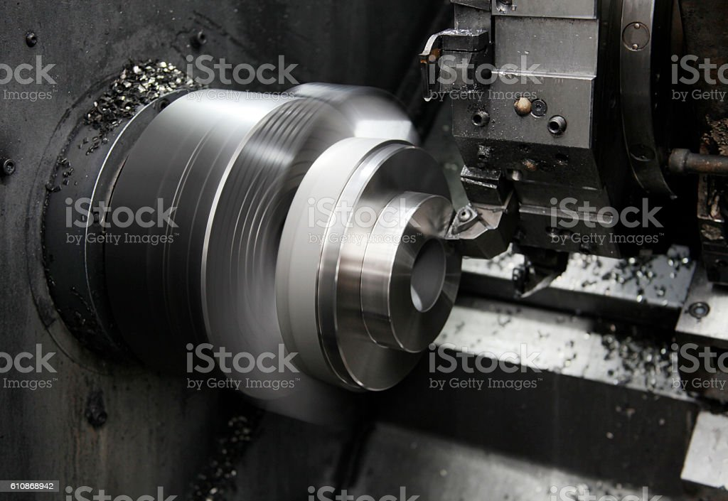 Metalworking CNC stock photo