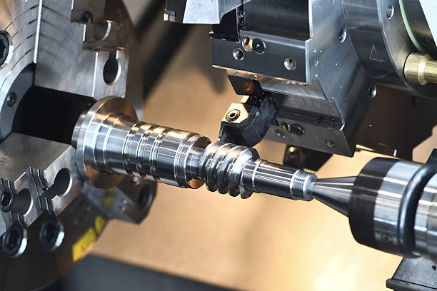 metalworking industry. cutting tool making worm shaft at metal working - Photo