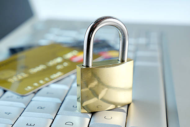 metaphor for secure online transactions stock photo