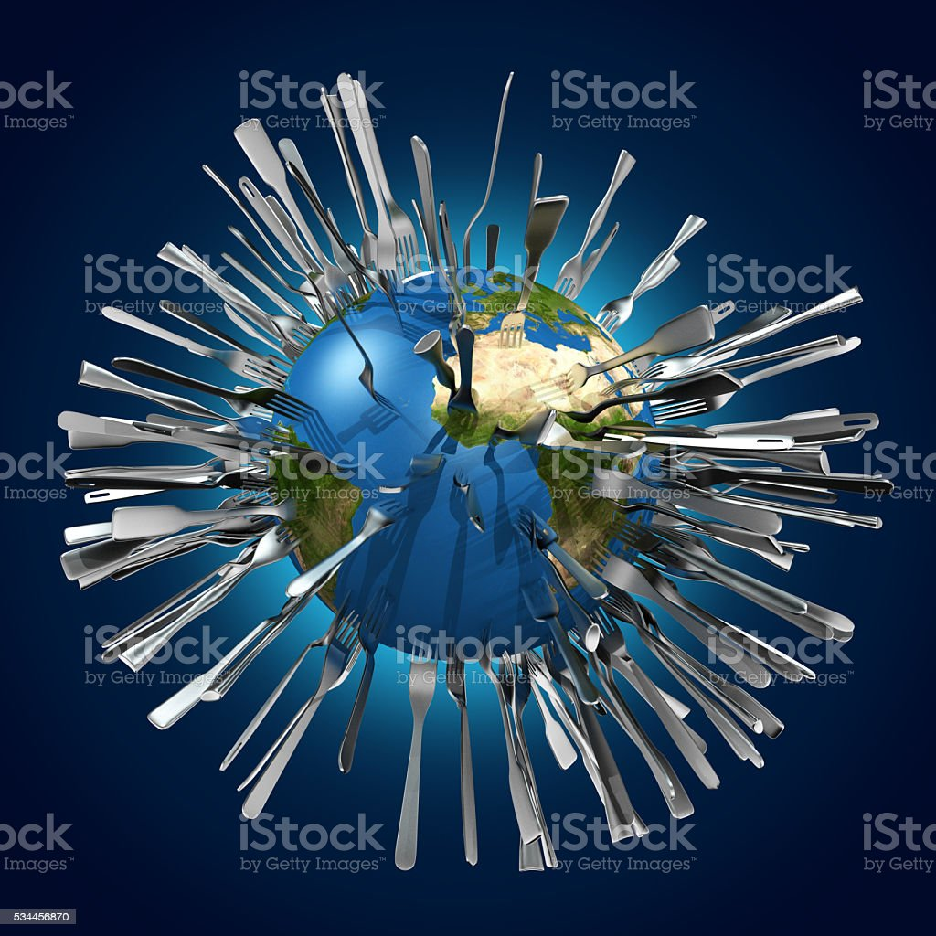 metaphorical image concerning global food ressources stock photo