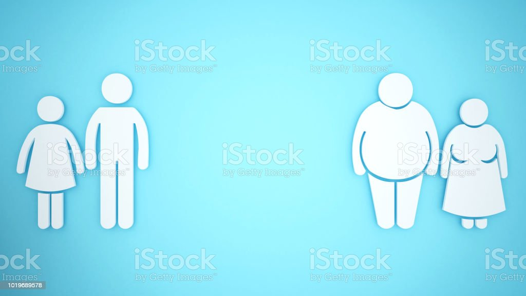 Metaphorisch kann das Körperfett auf ältere. Wirkung auf den menschlichen body.3D Abbildung. – Foto