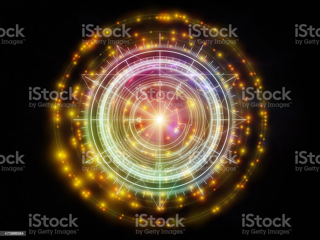 Metaphorical Sacred Geometry stock photo