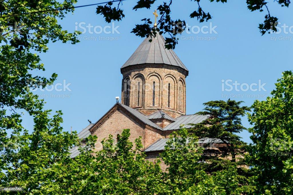 メテヒ寺院やトビリシ、グルジアで聖母マリアの生神の教会 - キリスト教のロイヤリティフリーストックフォト