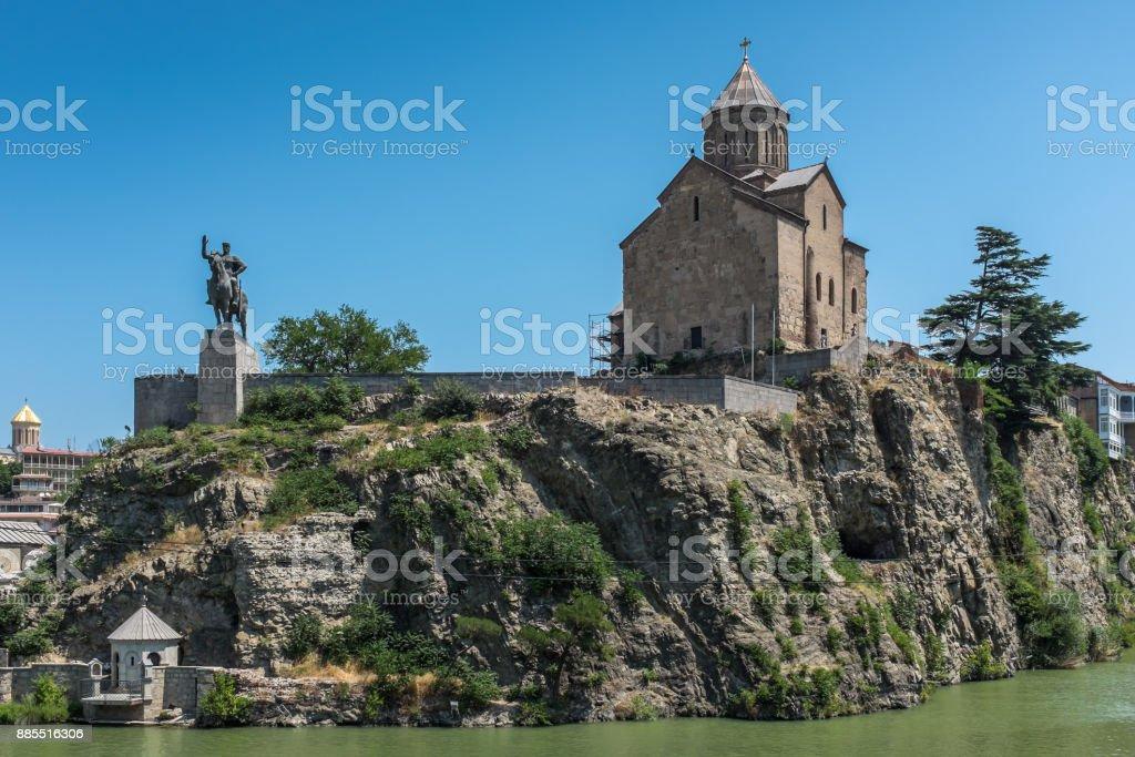 Metekhi Temple, Tbilisi, Georgia, Europe stock photo