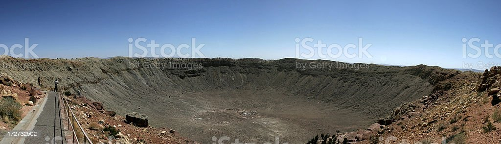 Meteor Crater Panoramic stock photo