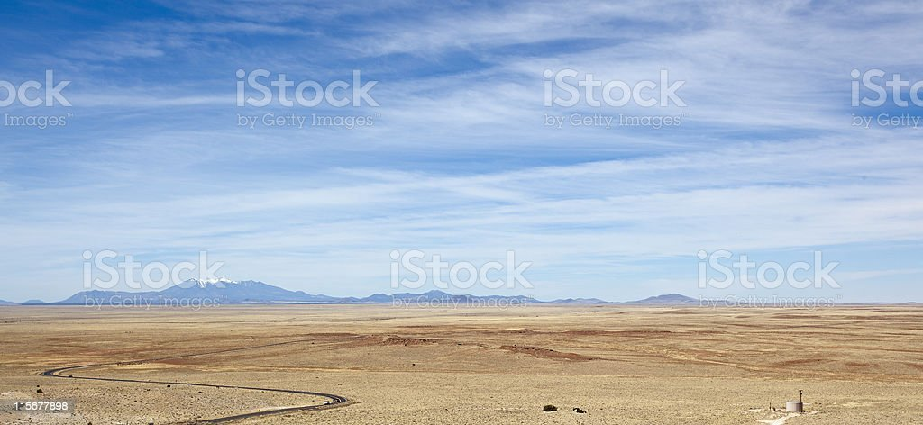 meteor crater viewpoint stock photo