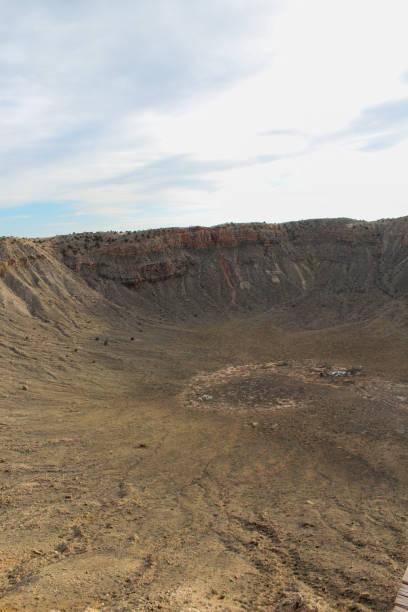 Meteor Crater, Winslow, Arizona stock photo