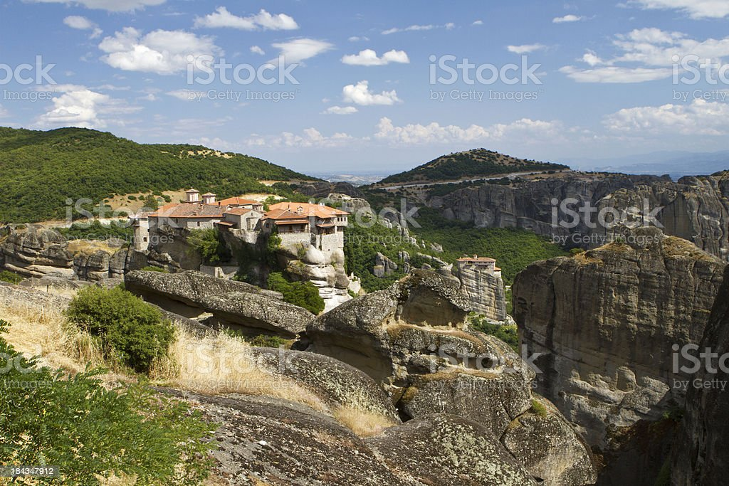 Meteor monastery in Greece royalty-free stock photo