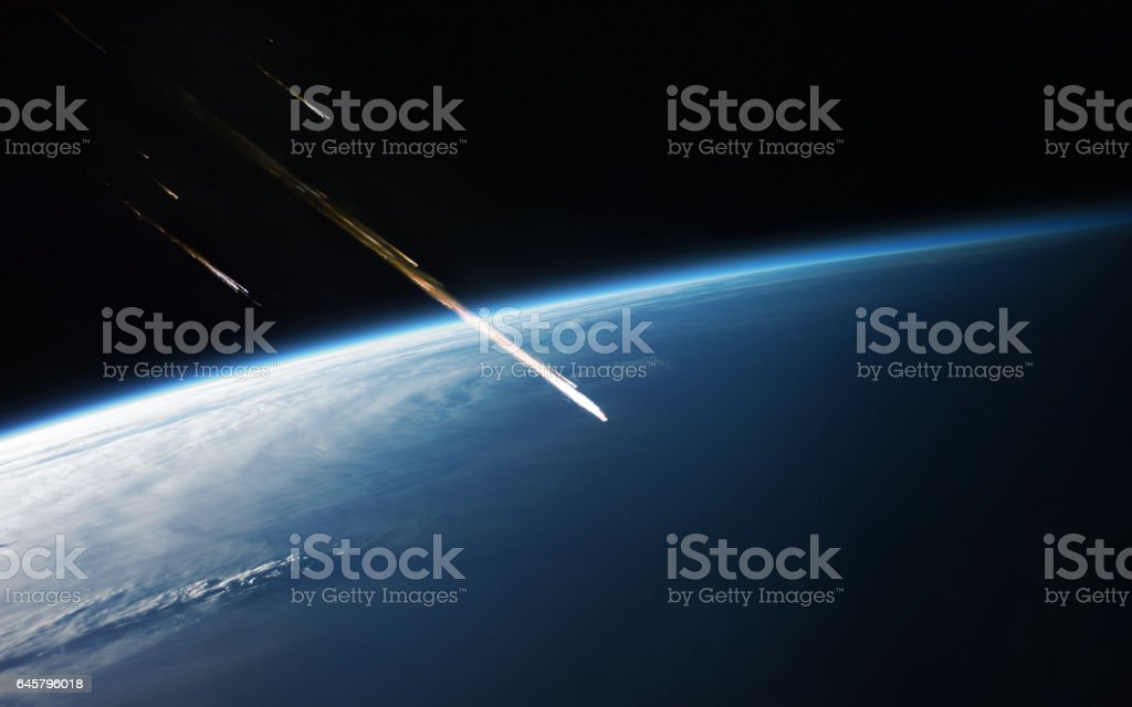 Meteor shower. Elements of this image furnished by NASA stock photo