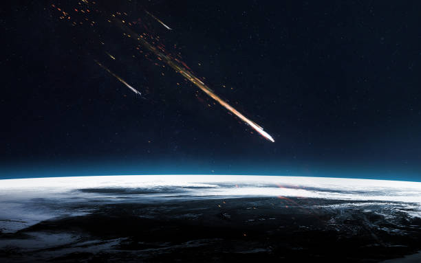 meteor shower. elements of this image furnished by nasa - shooting stars stock photos and pictures
