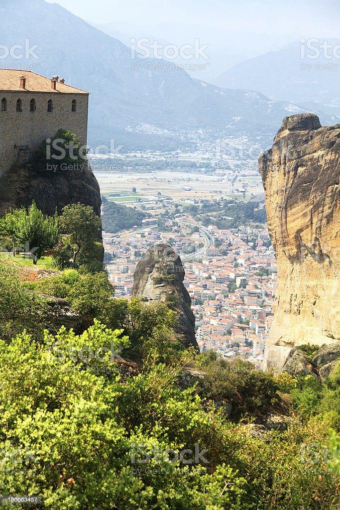 Meteora Clifftop Monasteries royalty-free stock photo