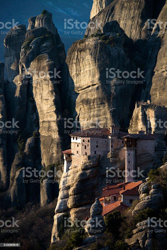 Meteora Clifftop Monasteries stock photo
