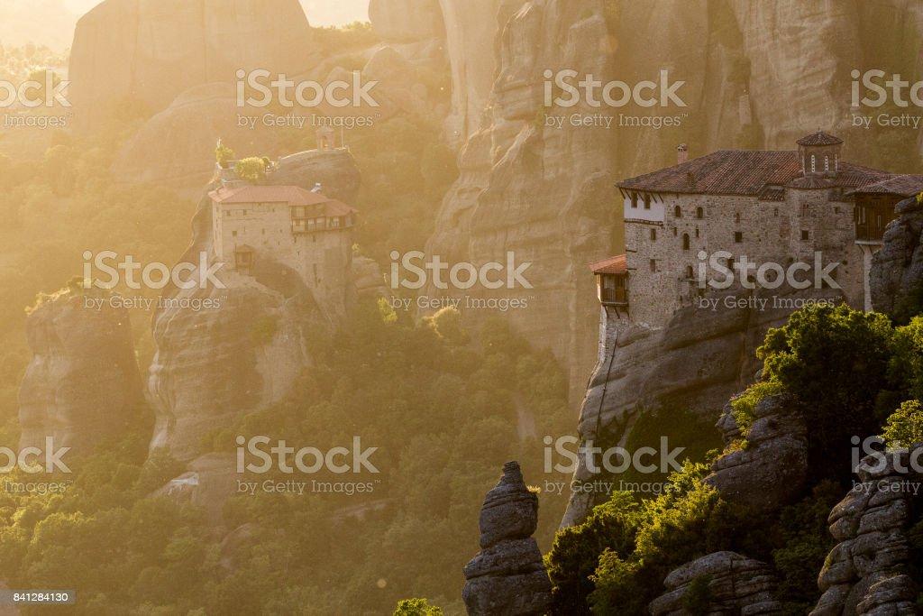 Meteora Greece landscape stock photo
