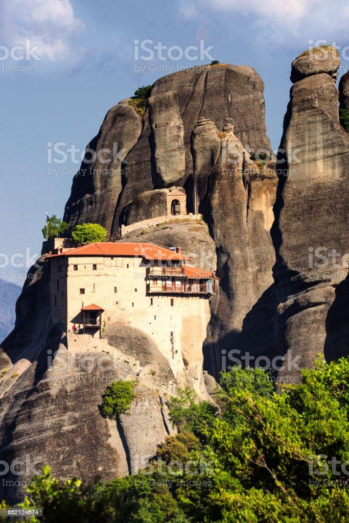Meteora landscape Greece stock photo