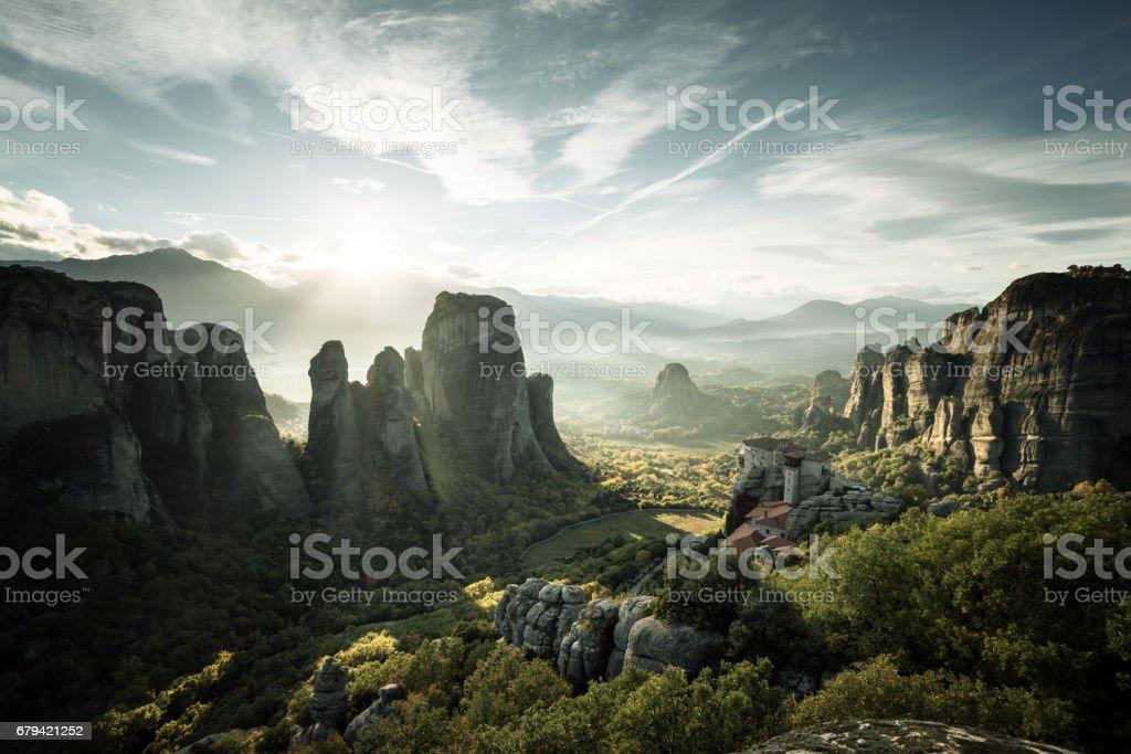 Meteora monasteries in Greece royalty-free stock photo