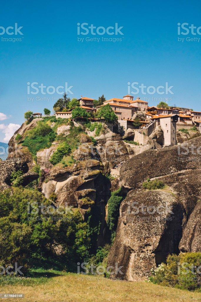 Meteora Monastery, Greece royalty-free stock photo