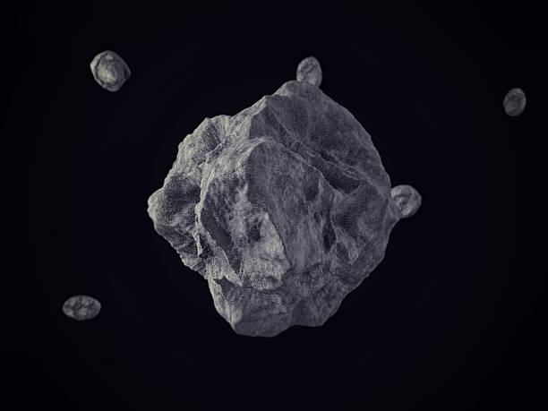 meteorites/rocks floating auf dem weltraum - pop up stock-fotos und bilder