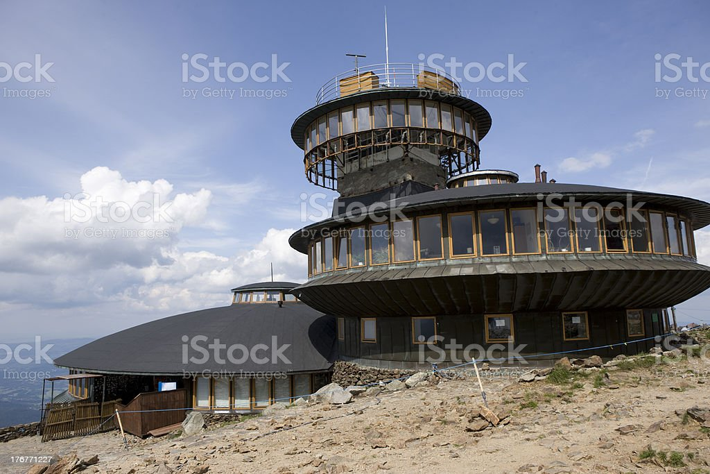 Meteorological observatory royalty-free stock photo