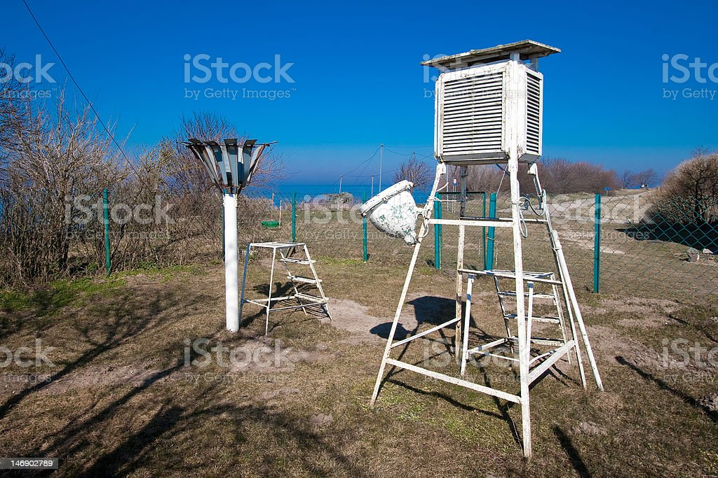 Meteorological station royalty-free stock photo
