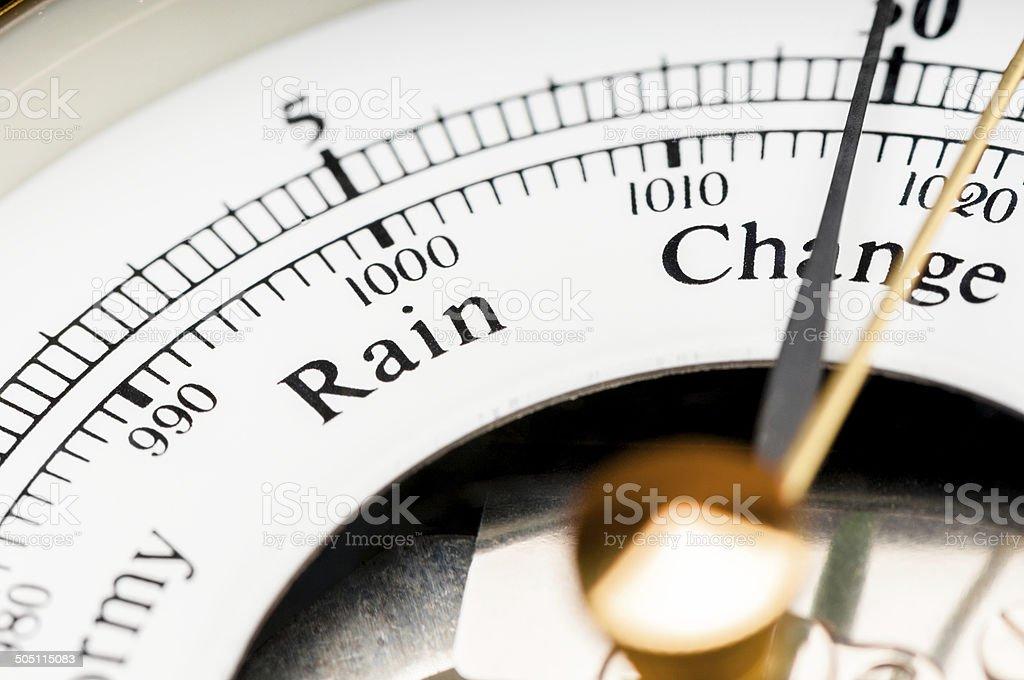 Conditions météorologiques Predicting Baromètre gros plan sur le changement - Photo