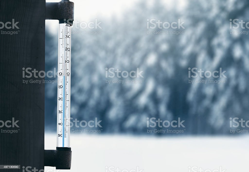 Meteorology, forecasting and winter weather season concept - the stock photo