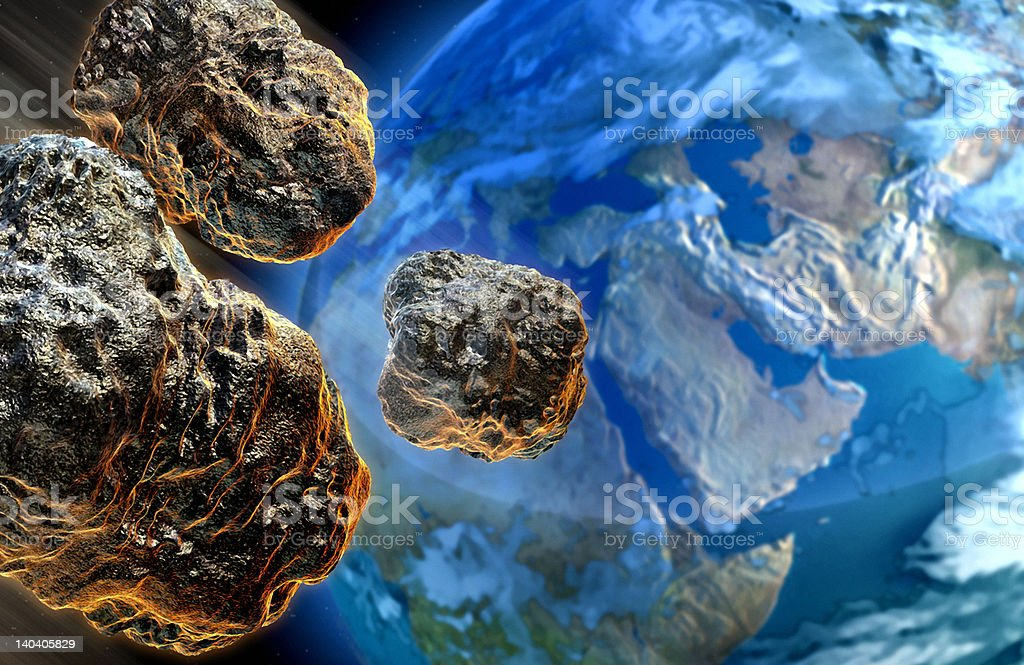 Meteors royalty-free stock photo
