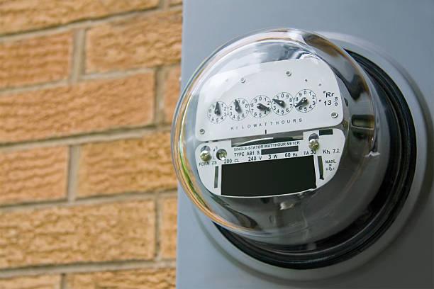 electric meter - messgerät stock-fotos und bilder