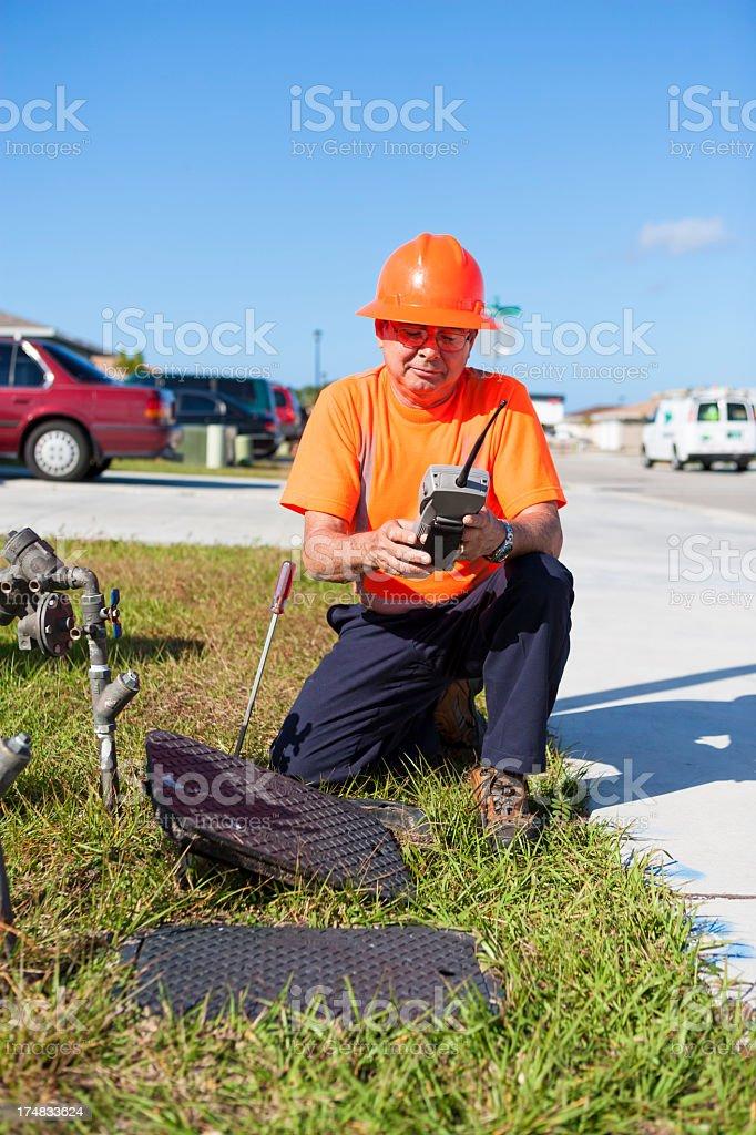 Meter Reading stock photo