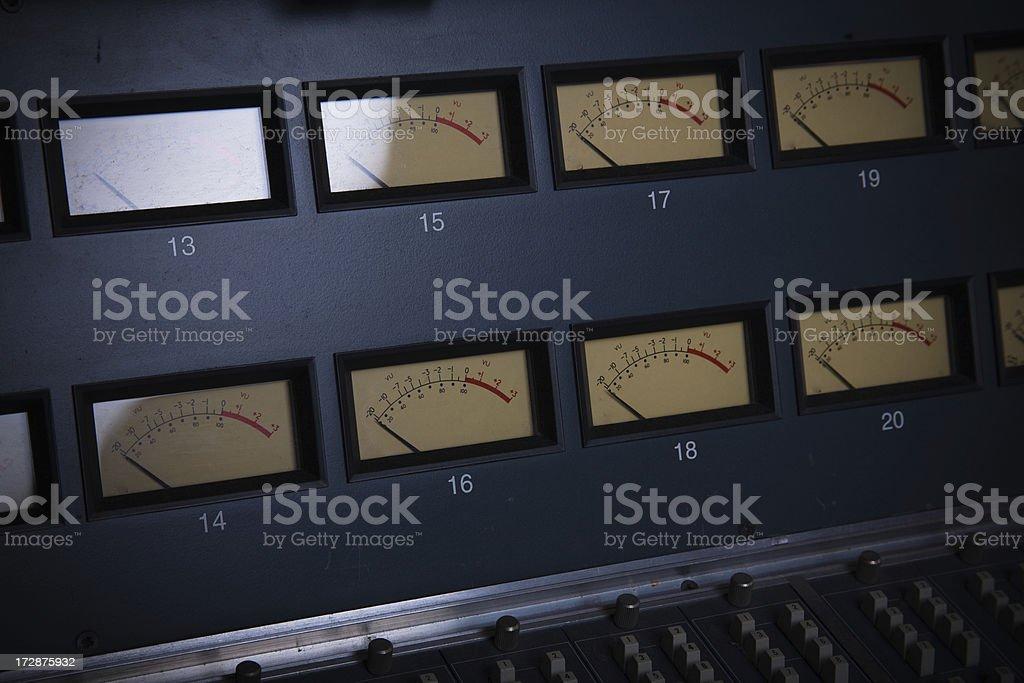 VU Meters stock photo