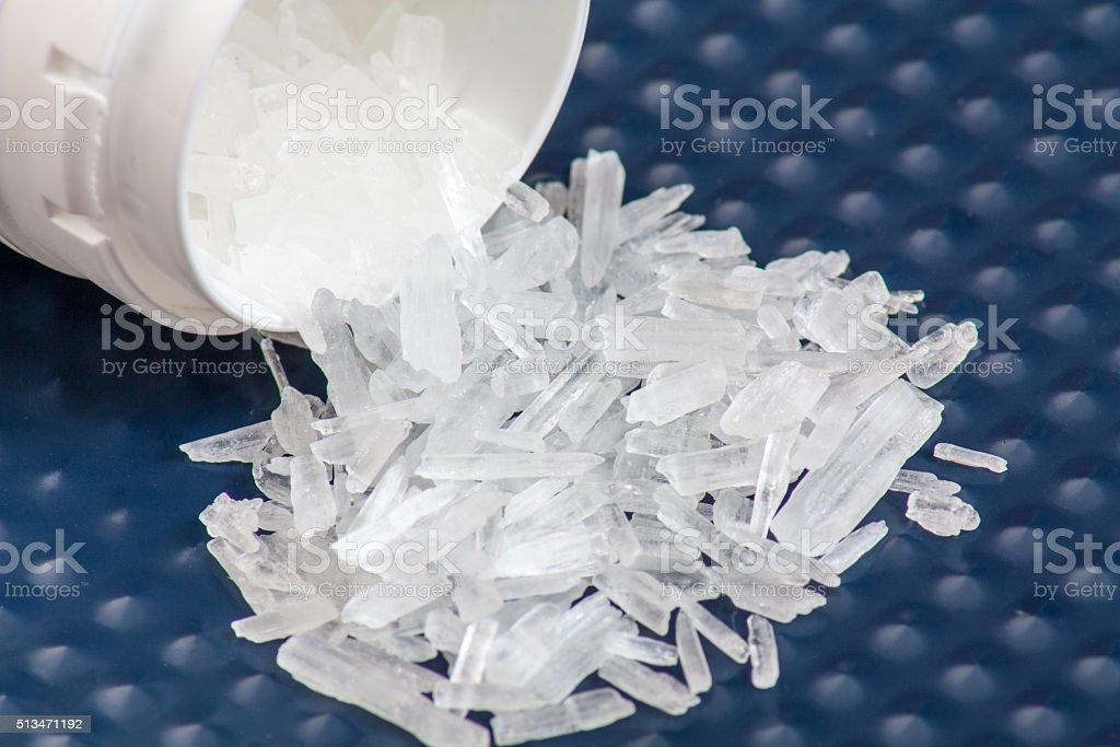 Methamphetamine also known as crystal meth stock photo