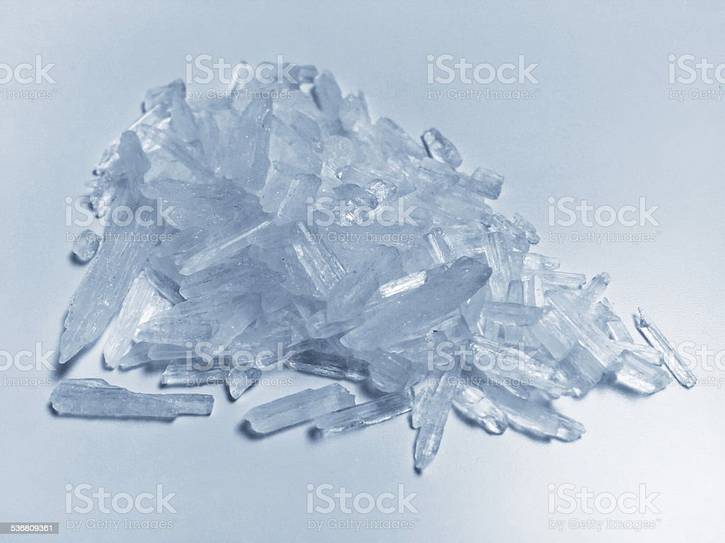 Methamphetamine crystal meth stock photo