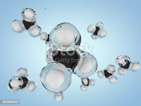 istock Methane Molecule Image. 3D rendering 842950022