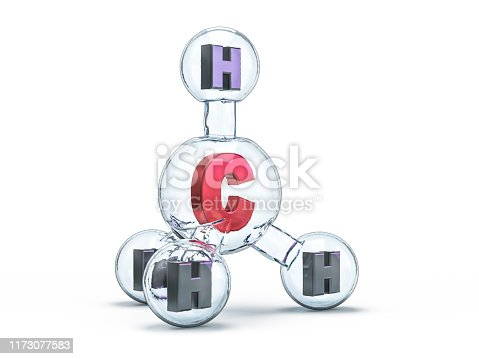 906720020 istock photo Methane Molecules Background. 3D rendering 1173077583