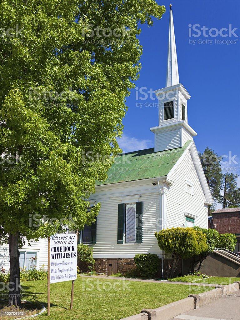 Methodist Church in Sutter Creek stock photo