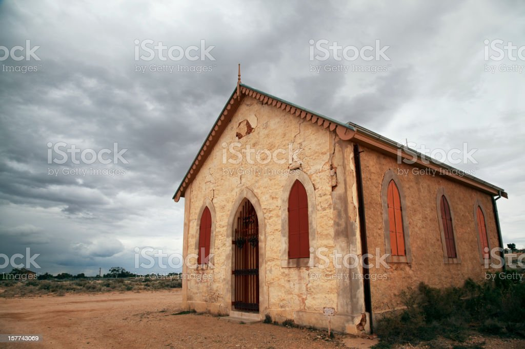 Methodist church, Silverton, Australia stock photo