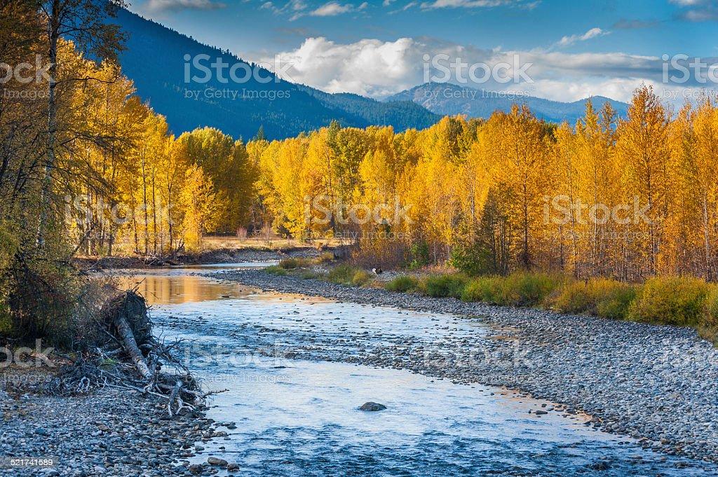 Methow River. stock photo