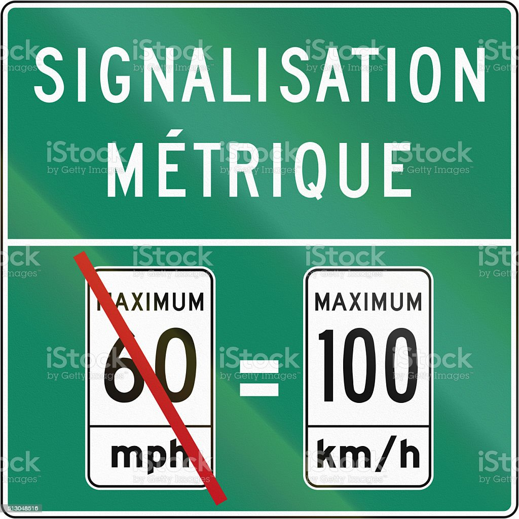 Metric System in Canada stock photo