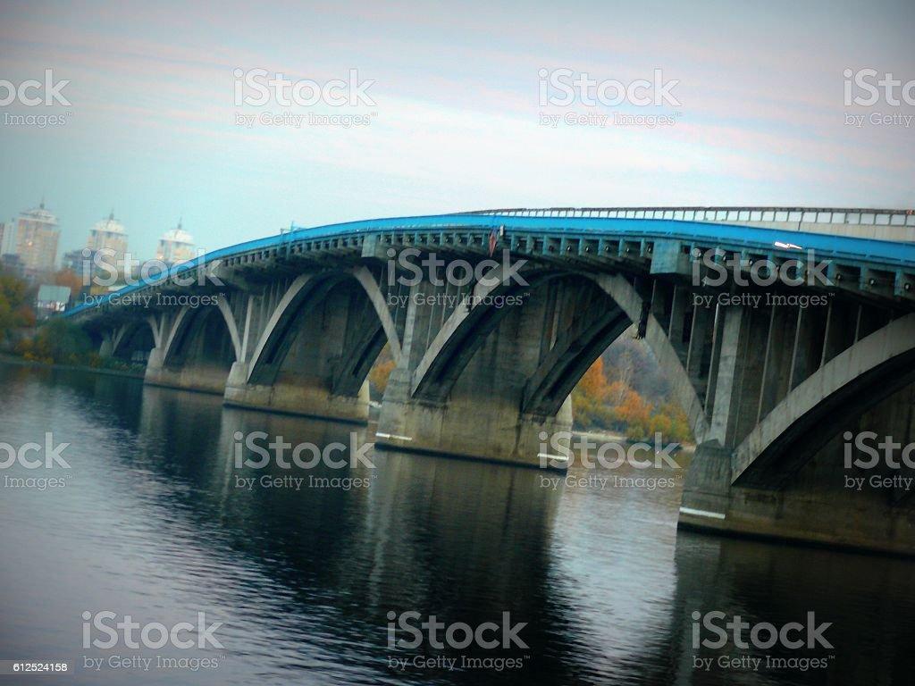 Metro bridge in Kiev стоковое фото
