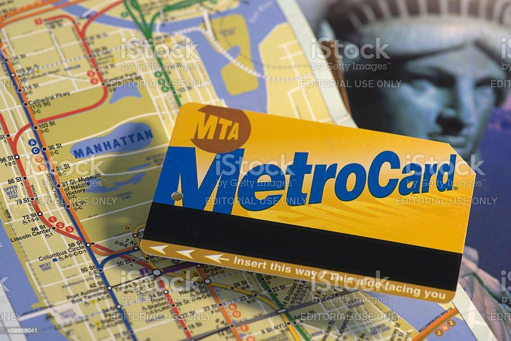 NYC Metro Card stock photo