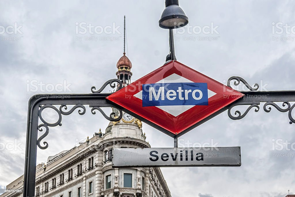 Metro in Madrid. Sevilla station royalty-free stock photo