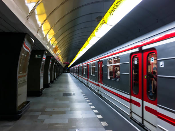 Metro in Prague stock photo
