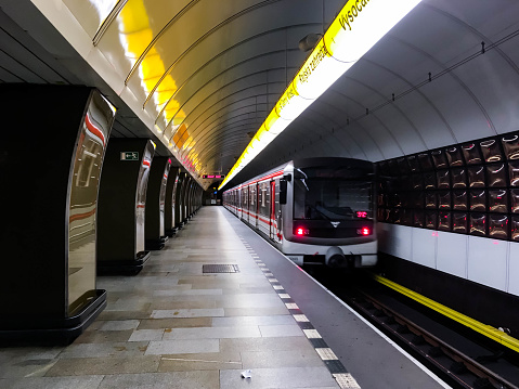 Metro In Prague Stock Photo - Download Image Now