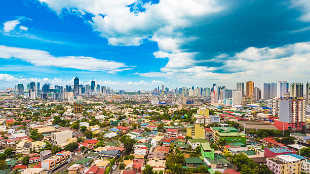 Metro Manila skyline during the day stock photo