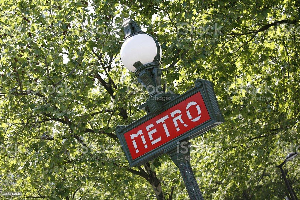 Metro - Paris royalty-free stock photo