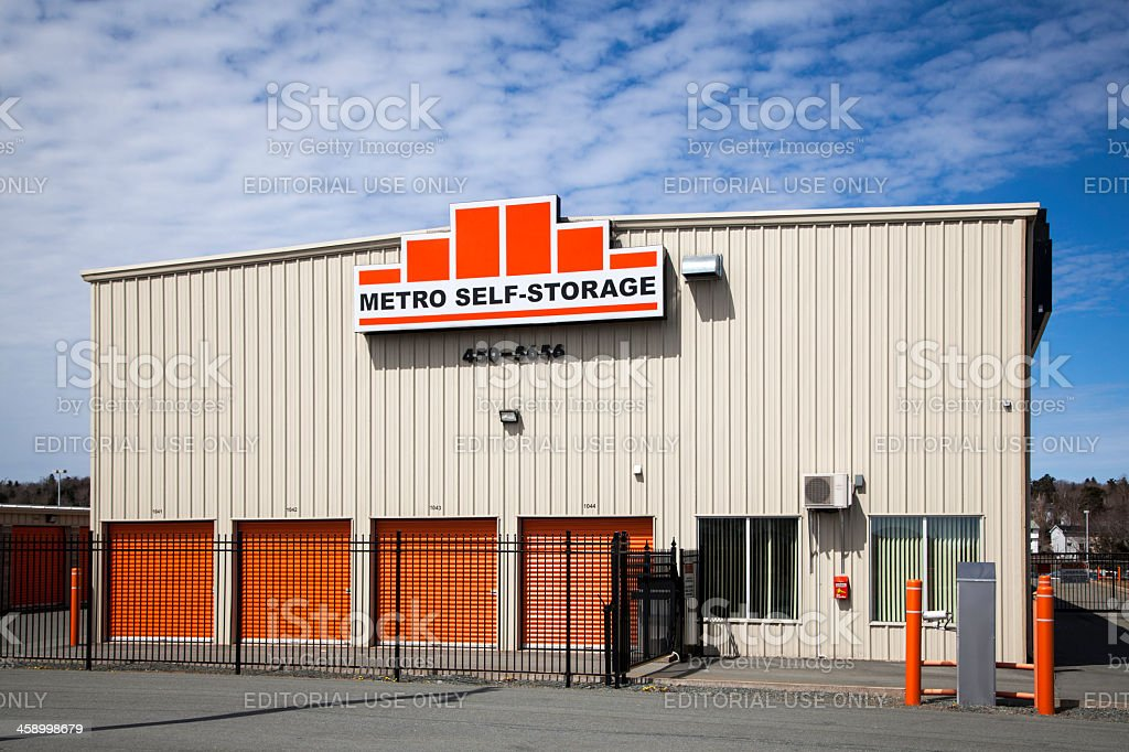Metro Self Storage royalty-free stock photo